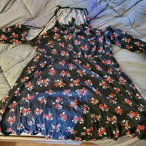 Torrid above knee open shoulder dress
